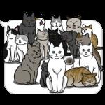 【公式スタンプ】動く!吹き出しに群がる猫 スタンプ