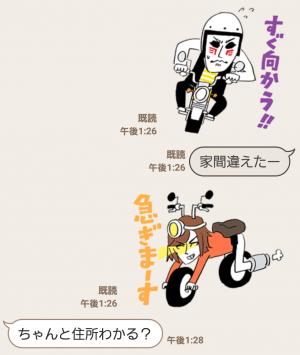 【隠し無料スタンプ】Honda×金爆 原付スタンプ(2016年11月03日まで) (4)