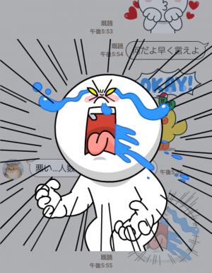 【とび出るスタンプ】飛び出せ!LINEキャラクターズ スタンプ (8)