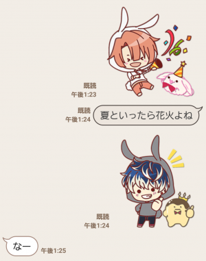 【公式スタンプ】ぷち♪アイドリッシュセブン スタンプ (4)
