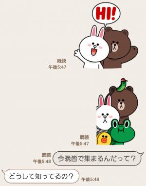 【とび出るスタンプ】飛び出せ!LINEキャラクターズ スタンプ (3)
