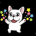 【音付きスタンプ】DOCA 明るすぎる犬 スタンプ