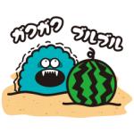【無料スタンプ速報:隠し無料スタンプ】ギャラモン夏 スタンプ(2016年07月10日まで)