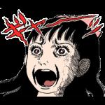 【音付きスタンプ】楳図かずお 動いて叫ぶスタンプなのら~! スタンプ