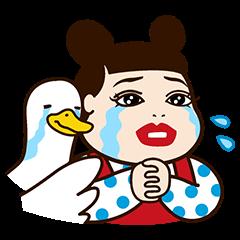 【限定無料スタンプ】人気芸人×アフラックコラボスタンプ(2016年08月15日まで)
