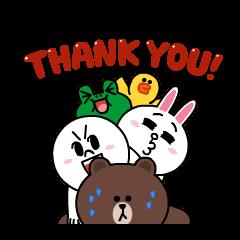 【限定無料スタンプ】いつも一緒☆動く!LINEキャラクターズ スタンプ(2016年08月02日まで)