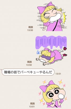 【公式スタンプ】きゃりーぱみゅぱみゅ×クレヨンしんちゃん スタンプ (4)