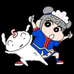 【公式スタンプ】きゃりーぱみゅぱみゅ×クレヨンしんちゃん スタンプ
