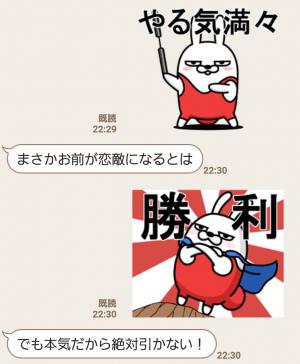 【人気スタンプ特集】動く 擦れうさぎ5 スタンプ (6)