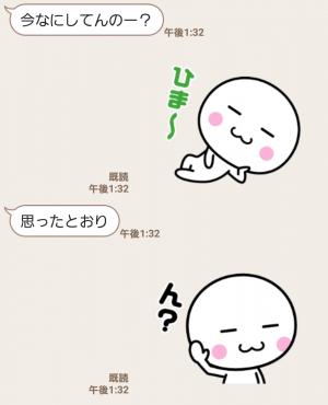【人気スタンプ特集】動く☆いつでも使える白いやつ3 スタンプ (3)