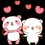 【隠し無料スタンプ】【ゆるっと大人】さくらパンダ×ゲスくま スタンプ(2016年11月29日まで)