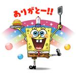 【無料スタンプ速報】LINE バブル2 x スポンジ・ボブ スタンプ(2016年10月19日まで)