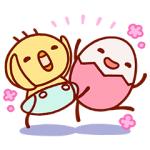 【無料スタンプ速報】【たまひよ】たまちゃん・ひよちゃん スタンプ(2016年10月24日まで)