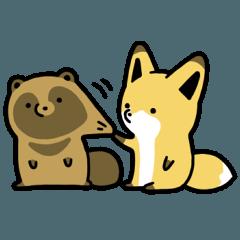 【人気スタンプ特集】タヌキとキツネ2 スタンプ