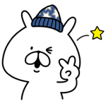【限定無料スタンプ】ライトオン×ゆるうさぎ コラボスタンプ(2016年10月10日まで)