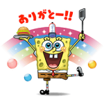 【限定無料スタンプ】LINE バブル2 x スポンジ・ボブ スタンプ(2016年10月19日まで)