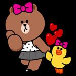 【隠し無料スタンプ】チョコ&サリーのハッピーライフ スタンプ(2016年10月17日まで)