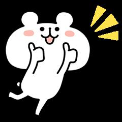 【限定無料スタンプ】江原道×ゆるくま コラボスタンプ第1弾! スタンプ(2016年11月07日まで)