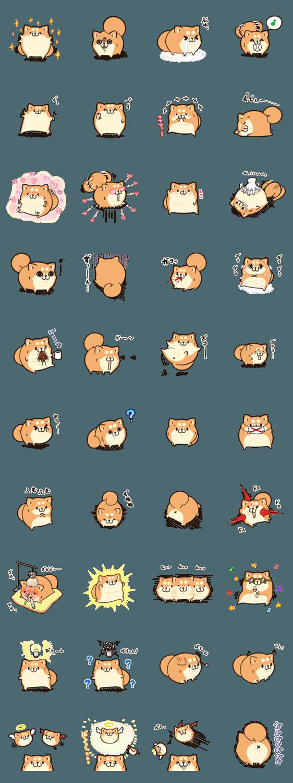 【人気スタンプ特集】ボンレス犬 Vol.5 スタンプ