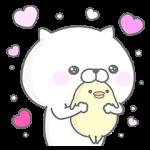 【限定無料スタンプ】ぬこ、ところによりピヨ。 × ワコール スタンプ(2016年12月05日まで)