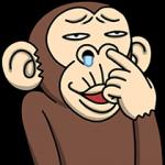 【人気スタンプ特集】イラッと動く★お猿さん スタンプ
