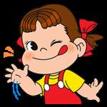 【限定無料スタンプ】LINE ラッシュ × ペコちゃん スタンプ(2016年12月22日まで)
