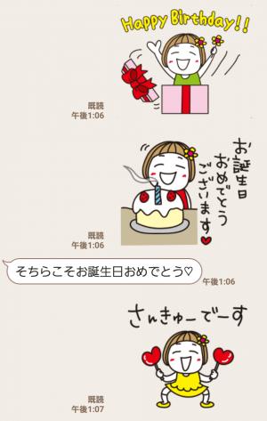 【人気スタンプ特集】▶︎動く!はな子27。正月とか誕生日とか。 スタンプ (3)