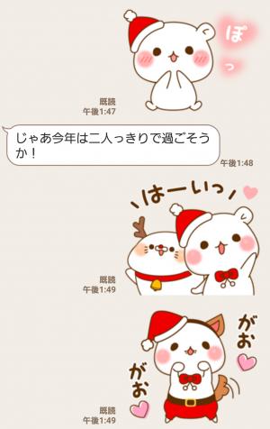 【人気スタンプ特集】ゲスくま×毒舌あざらしハートまみれ☆Xmas スタンプ (6)