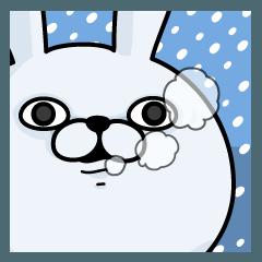 【人気スタンプ特集】うさぎ100% 冬 スタンプ