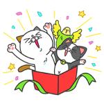 【無料スタンプ速報】タマ川 ヨシ子(猫)が飛び出す第11弾! スタンプ(2017年01月16日まで)