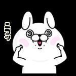 【限定無料スタンプ】fracora×うさぎ100パーセント スタンプ(2017年02月13日まで)