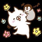 【限定無料スタンプ】ねこぺん日和×マツキヨコラボスタンプ(2017年02月27日まで)