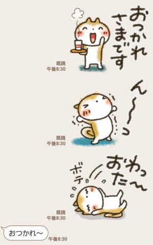 【人気スタンプ特集】ラフ画風「まるちゃん」 スタンプ (3)