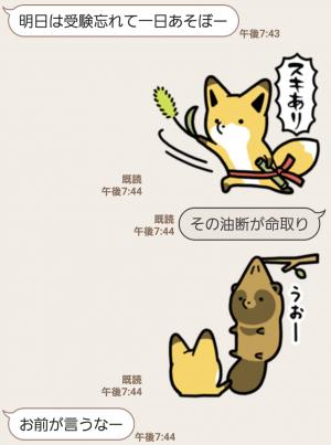 【人気スタンプ特集】タヌキとキツネ3 スタンプ (7)
