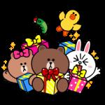 【限定無料スタンプ】LINE Characters with SMART PARTY スタンプ(2017年05月07日まで)