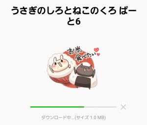 【人気スタンプ特集】うさぎのしろとねこのくろ ぱーと6 スタンプ (2)