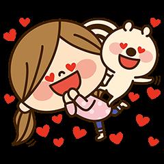 【隠し無料スタンプ】スマイリス×かわいい主婦の1日★第2弾♪ スタンプ(2017年03月27日まで)