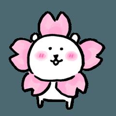 【人気スタンプ特集】自分ツッコミくま 春(うご) スタンプ
