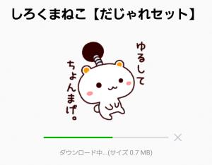 【人気スタンプ特集】しろくまねこ【だじゃれセット】 スタンプ (2)