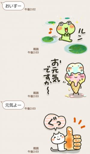 【人気スタンプ特集】夏季・可愛すぎない大人にやさしいスタンプ (3)