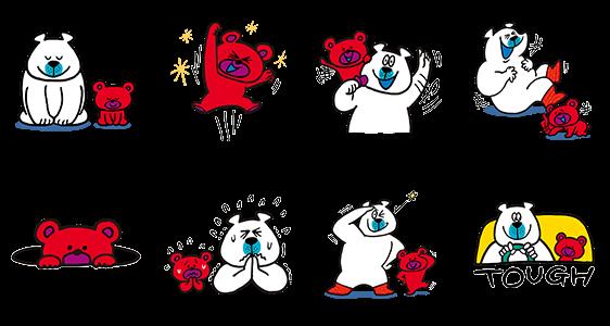 【限定無料スタンプ】クマの親子♪タッフィー&ハッピー☆ スタンプ(2017年05月29日まで)