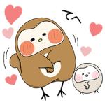 【無料スタンプ速報:隠し無料スタンプ】ぽふぽふフク子さんと、こふく☆ スタンプ(2017年09月11日まで)