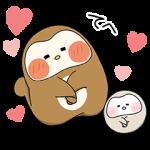【隠し無料スタンプ】ぽふぽふフク子さんと、こふく☆ スタンプ(2017年09月11日まで)