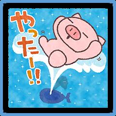 【キャンペーン】夏休みスタンプ販売開始!対象スタンプを購入してLINEクレジットを当てよう!(713~820) (1)