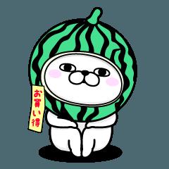 【人気スタンプ特集】うさぎ100% 夏 スタンプ
