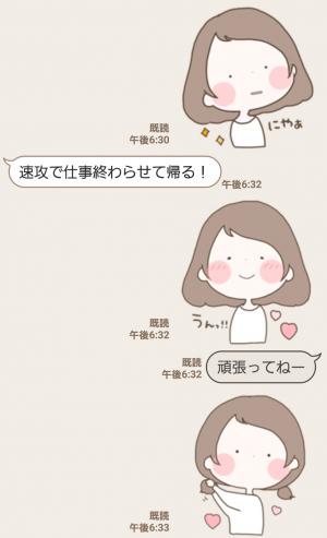 【人気スタンプ特集】まるいすたんぷ おんなのこ! スタンプ (6)