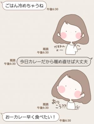 【人気スタンプ特集】まるいすたんぷ おんなのこ! スタンプ (5)