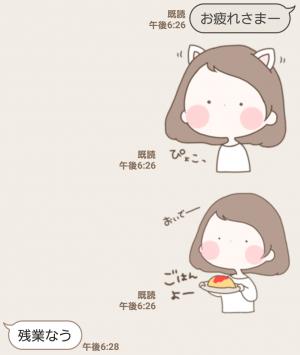 【人気スタンプ特集】まるいすたんぷ おんなのこ! スタンプ (3)