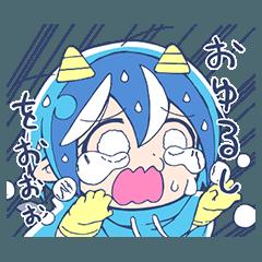 【人気スタンプ特集】泣き虫!悪魔のメムメムちゃん(四谷啓太郎) スタンプ