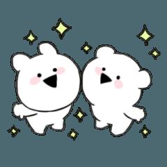 【人気スタンプ特集】すこぶる動くちびウサギ&クマ スタンプ ...